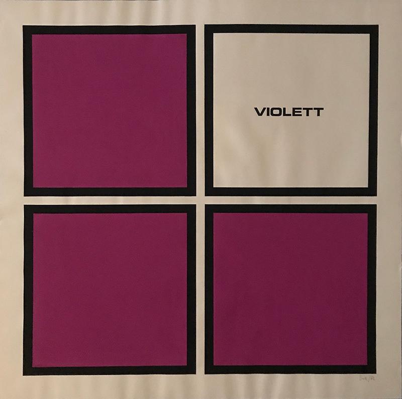 """Vier violett quadrat"""