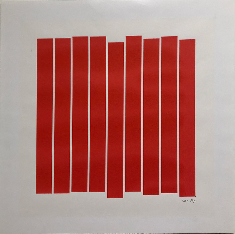 9 rectangles rouges