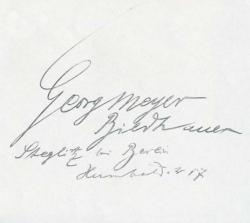 Meyer-Steglitz, Georg Renatus