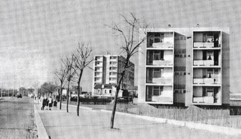 sive und raccoursier aubervilliers sozialwohnungen sdansicht abbildung aus bauen wohnen 1953 s 269