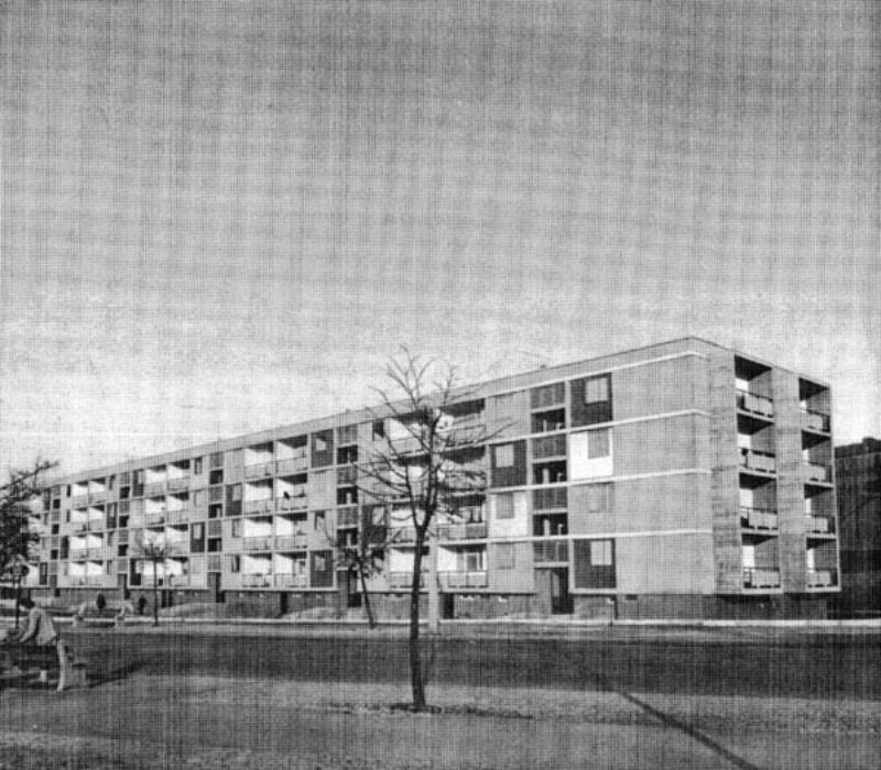 sive und raccoursier aubervilliers sozialwohnungen ansicht von sdwesten abbildung aus bauen wohnen 1953 s 270