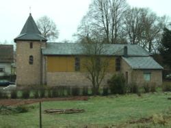 Pfarreiengemeinschaft Freisen-Oberkirchen  Nohfelden-Walhausen,  Filialkirche (ursprüngliche Holzbaracke), Herz Mariä