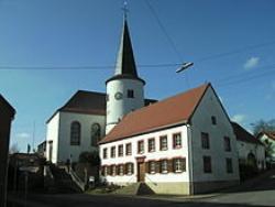 Gersheim-Reinheim, Pfarrkirche St. Markus und B.M.V. (Beatae Mariae Virginis = der seligen Jungfrau Maria)