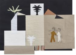 ein Haus im Sinn #10, 2018,Bleistift/Papier/Collage,75 x 102,5 cm