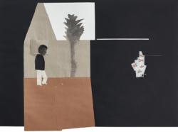 ein Haus im Sinn #11, 2018, Bleistift/Tusche/Papier/Collage, 72 x 100 cm