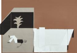 ein Haus im Sinn #13, 2018,Bleistift/Papier/Collage,70 x 101,5 cm