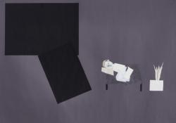 ein Haus im Sinn #14, 2018,Bleistift/Papier/Collage,70 x 100 cm