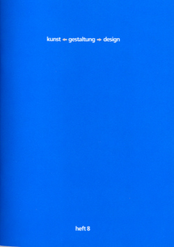 kunst-gestaltung-design. heft 8