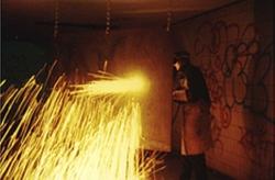 """Riethmüller, Performance """"Ginsterlicht – Schlieren im Auge"""""""