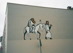 Saarlouis, Fontaine, Wandbild