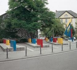Saarlouis, Hajek, Plastik und Platzgestaltung