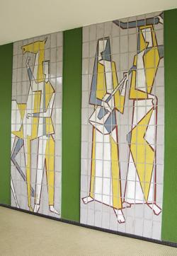 Dillingen, Fontaine, Wandbilder
