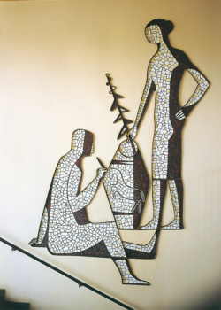 Lebach, Schneider, Wandgestaltung