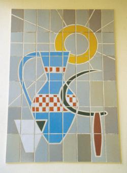 Schwalbach, Fontaine, Wandgestaltung