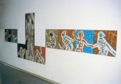 Wallerfangen, Fontaine, Wandgestaltung