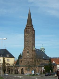 Saarbrücken, Bezirk Mitte, St. Arnual, Pfarrkirche Christkönig