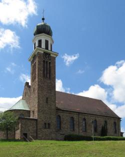 Saarbrücken, Halberg, Eschringen  Pfarrkirche St. Laurentius, zum Bistum Speyer zugehörig