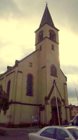 Saarbrücken, Halberg, Brebach-Fechingen, Brebach,  Pfarrkirche Maria Hilf bzw. Maria von der Immerwährenden Hilfe