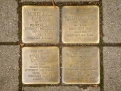 Saarbrücken, Demnig, Stolperstein, Davidson, Moritz, Wanda, Egon und Vales