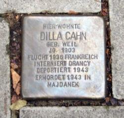 Saarbrücken, Demnig, Stolperstein, Cahn, Dilla