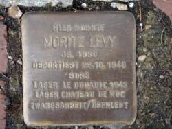 Illingen, Demnig, Stolperstein, Levy, Moritz, Lina und Olga