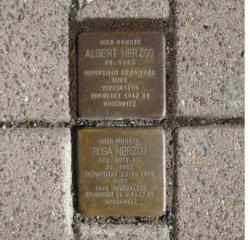 Illingen, Demnig, Stolperstein, Herzog, Albert und Rosa