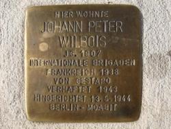 Rehlingen-Siersburg, Demnig, Stolperstein, Wilbois, Johann Peter