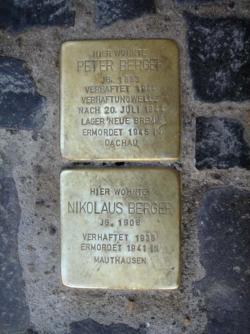 Saarlouis, Demnig, Stolperstein, Berger, Peter und Nikolaus