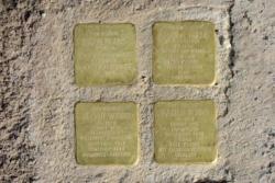 Saarwellingen, Demnig, Stolperstein, Worms, Isidor, Johanna, Helmut und Walter