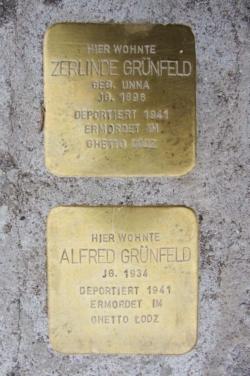 Saarwellingen, Demnig, Stolperstein, Grünfeld, Zerline und Alfred
