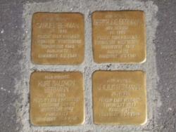 Völklingen, Demnig, Stolperstein, Bermann, Gertrude, Julius, Kurt und Samuel