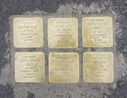 Nohfelden, Demnig, Stolperstein, Wolf, Arthur, Pauline, Jakob, Ludwig, Herbert und Heinz