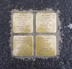 Nohfelden, Demnig, Stolperstein, Koschelnik, Johanna Hedwig, Leonore, Friedrich Salomon und Lotte