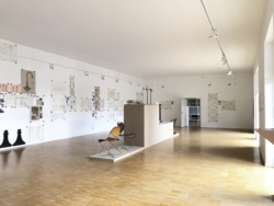 Ausstellungsansicht im Forschungszentrum für Künstlernachlässe