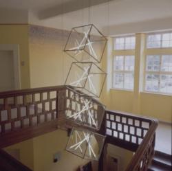 Homburg, Bauer, Lichtskulptur und Wandgestaltung
