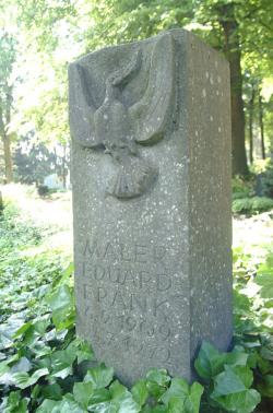 Saarlouis, Trierweiler, Grabstein für Edvard Frank
